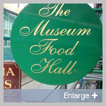 Museum Food Hall Sign